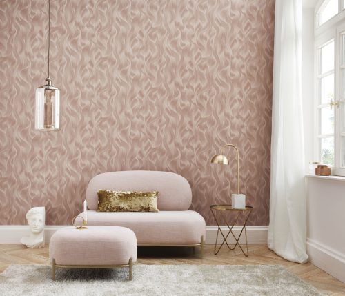 Elle Decoration Rose Gold Wave 10151-05 Wallpaper