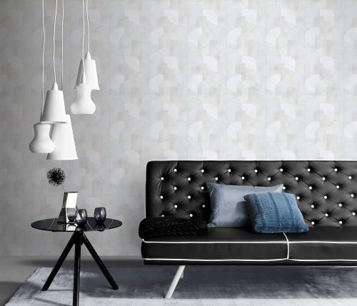 Elle Decoration Grey Art Deco Geometric 10155-31 Wallpaper
