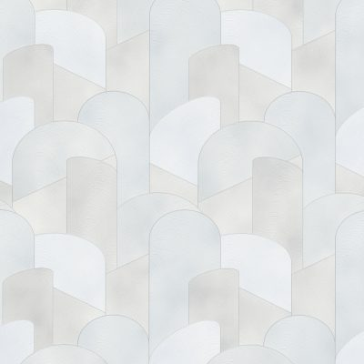 Elle Decoration Grey Art Deco Geometric 10155-31 Wallpaper