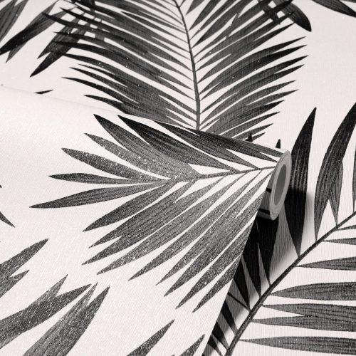Diamond Tropical Palm Wallpaper Mono Arthouse 260004