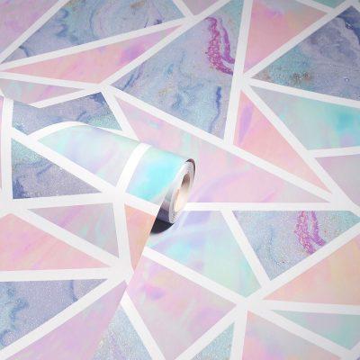 Pastel Geometric 296002 Apex Wallpaper Multicoloured Arthouse
