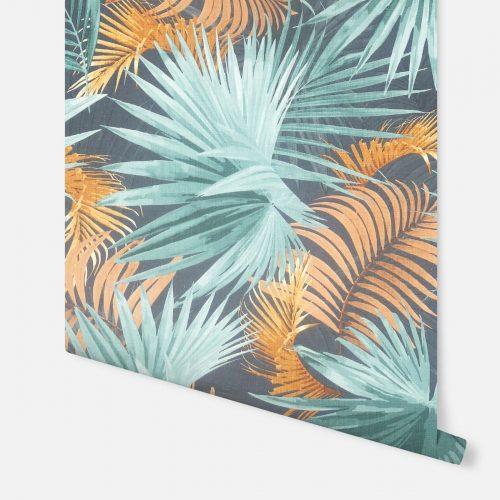 Santa Elena Wallpaper Teal / Orange Arthouse 296005