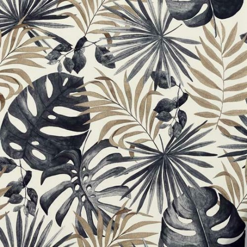 Arthouse Jungle Wall Black And Gold 297105 Wallpaper