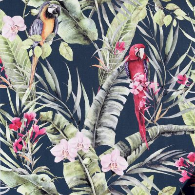 Pretty Polly Parrot Wallpaper Navy / Multi Arthouse 297106