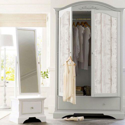 Artistick White Washed Wood Self Adhesive Wallpaper Arthouse 300205