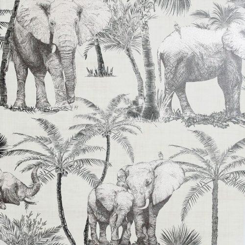 Artistick Elephant Grove Self Adhesive Wallpaper Charcoal Arthouse 300206 6m x 0.53m