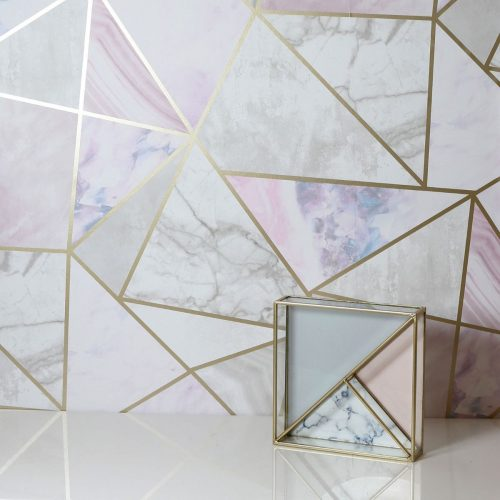Artistick Fragments Geo Self Adhesive Wallpaper Multi Arthouse 300208 6m x 0.53m