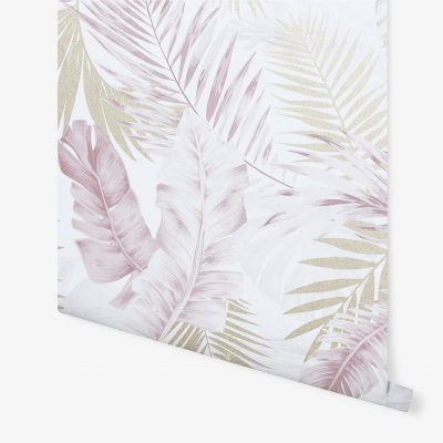 Artistick Soft Tropical Self Adhesive Wallpaper Blush/Gold Arthouse 300212 6m x 0.53m