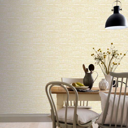 Artistick Tribal Ochre Dot Self Adhesive Wallpaper Arthouse 300213 6m x 0.53m