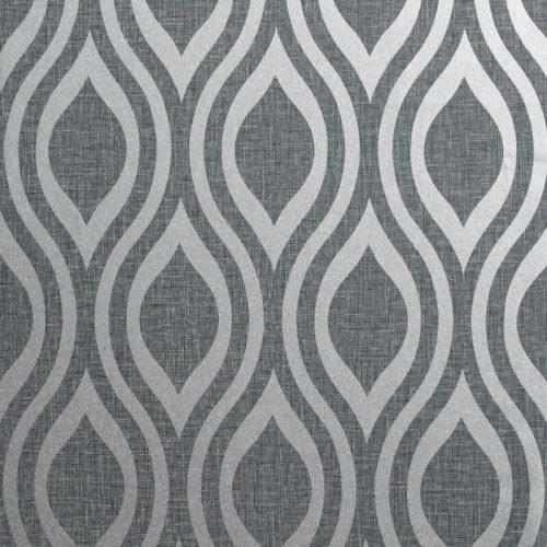 Artistick Luxe Ogee Self Adhesive Wallpaper Gunmetal Silver Arthouse 300216 6m x 0.53m