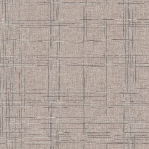 Living Walls New York Check Taupe Silver 379192 Wallpaper