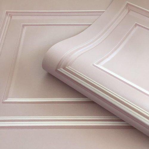 Amara Soft Pink Panel 7377 Belgravia Decor Wallpaper