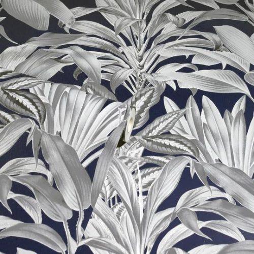 Greenhouse Plants Wallpaper Navy Arthouse 909501