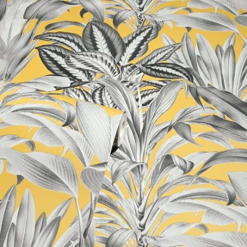 Greenhouse Plants Wallpaper Ochre Arthouse 909502