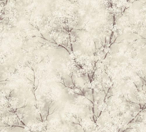 Beige Glitter Tree 37420-2 As Creation Wallpaper
