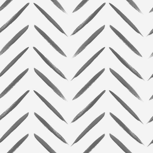Chevron Brush Marks Black & White 13040 Holden Wallpaper