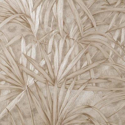 Fine Decor Vymura Milano Palm Leaf Neutral Wallpaper M88759