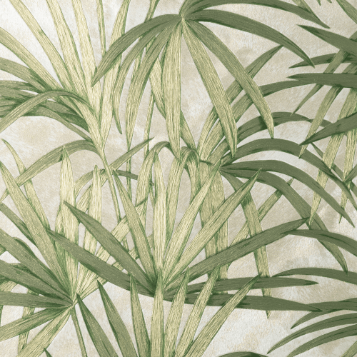 Fine Decor Vymura Milano Palm Leaf Green Wallpaper M95624