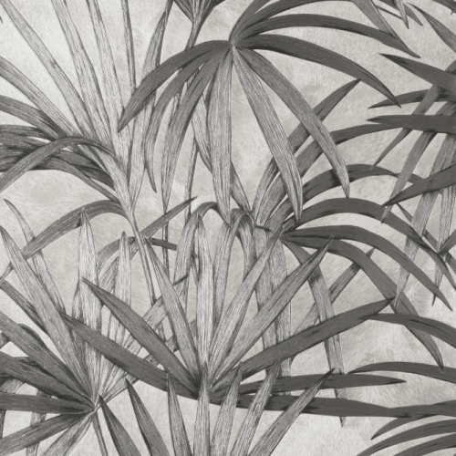 Fine Decor Vymura Milano Palm Leaf Grey Wallpaper M95625