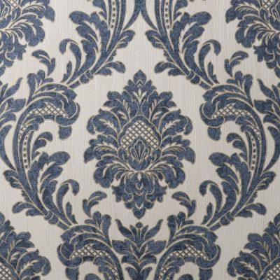 Fine Decor Vymura Milano Damask Blue Wallpaper M95622