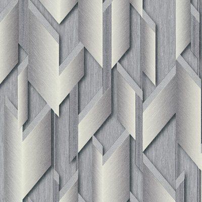 Fashion For Walls Grey & Silver 3D Effect Wallpaper 10145-10