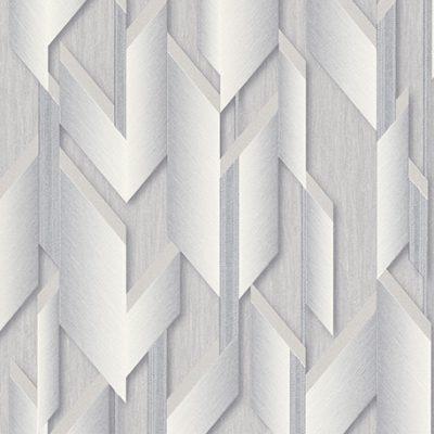 Fashion For Walls Grey & Silver 3D Effect Wallpaper 10145-31