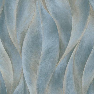 Erismann Leaves Blue Metallic Wallpaper 10148-44