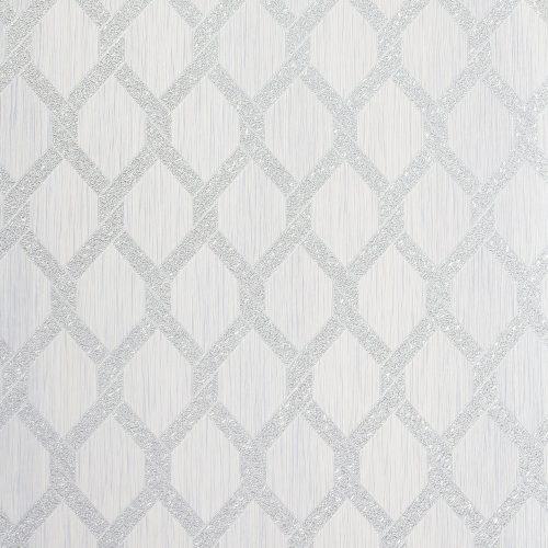 Radiance Silver Trellis Arthouse 298504 Wallpaper