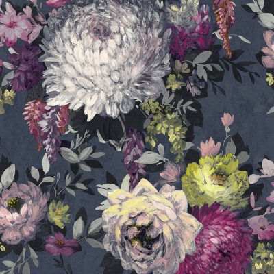 Azzura Floral Navy 9509 Belgravia Decor Wallpaper