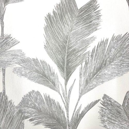Alessia Leaf Silver White GB 211 Belgravia Decor Wallpaper