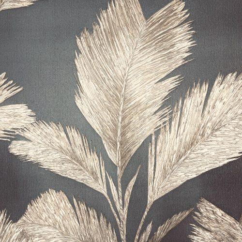 Alessia Leaf Gunmetal Gold GB 214 Belgravia Decor Wallpaper