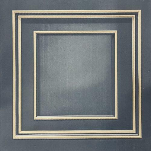 Amara Navy Gold Panel GB 7385 Belgravia Decor Wallpaper
