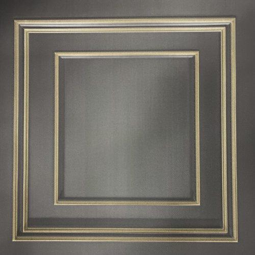 Amara Gunmetal Gold Panel GB 7386 Belgravia Decor Wallpaper