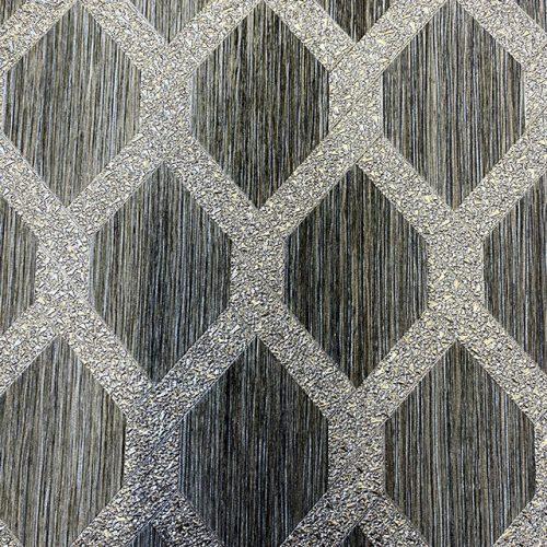 Radiance Charcoal Trellis Arthouse 298503 Wallpaper