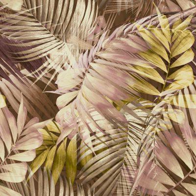 Grandeco Antiqua Palm Pink Ochre 170703 Wallpaper