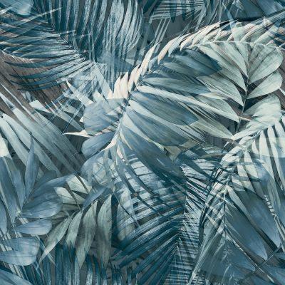 Grandeco Antiqua Palm Blue 170705 Wallpaper