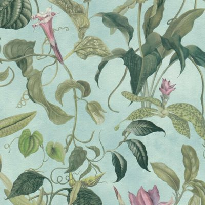 Mint Green Trailing Floral Michalsky Living 37988-2 Wallpaper