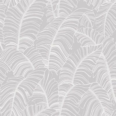 Banana Leaf Grey H298 Wallpaper
