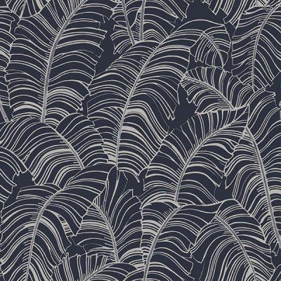 Banana Leaf Navy H299 Wallpaper