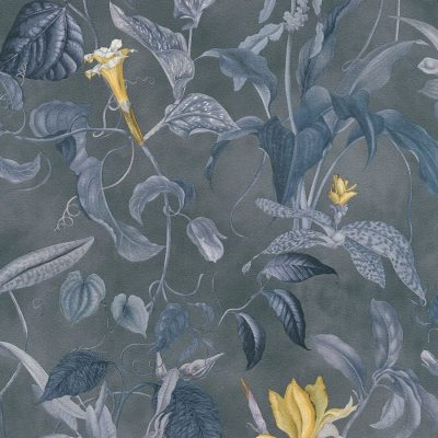 Blue Grey Trailing Floral Michalsky Living 37988-3 Wallpaper