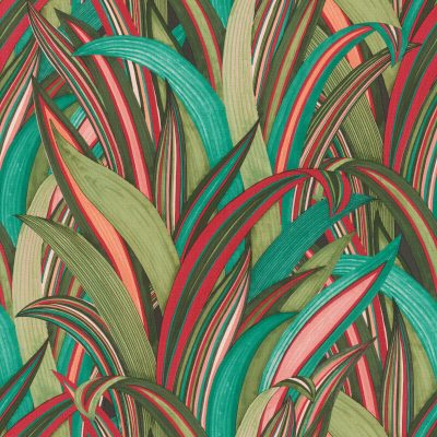 Tropical Grasses Green Multi Rasch 541267 Wallpaper