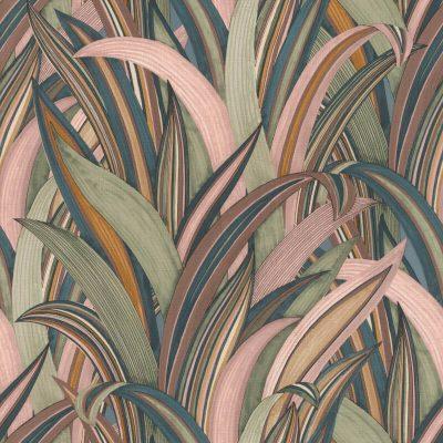 Tropical Grasses Pink Multi Rasch 541243 Wallpaper